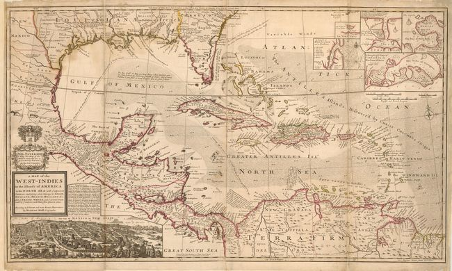 Map Of England France And Spain.Old World Auctions Auction 113 Lot 96 A Map Of The West Indies