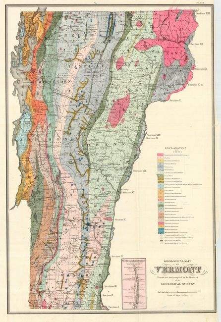geologic map of vermont Old World Auctions Auction 114 Lot 283 Geological Map Of geologic map of vermont