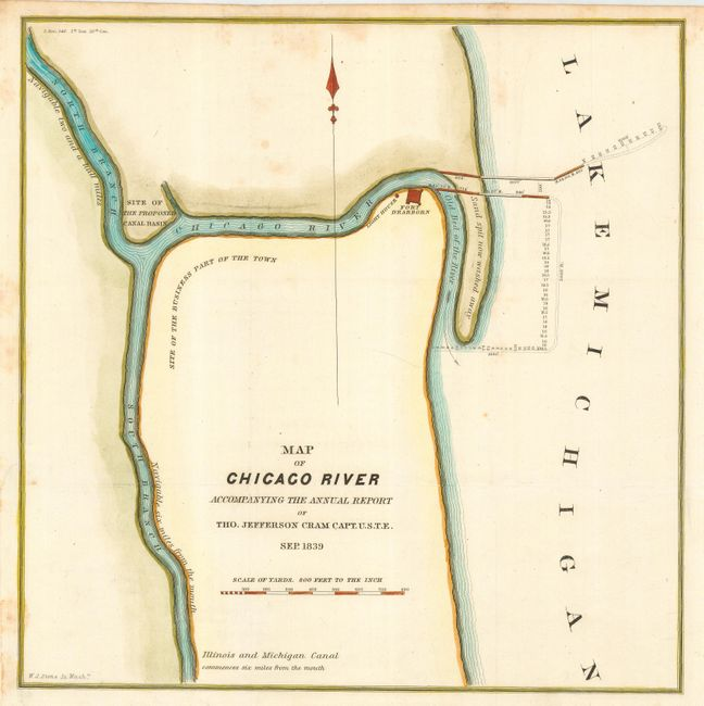 Old World Auctions - Auction 115 - Lot 245 - Map of Chicago River ...