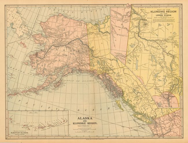 Old world auctions auction 116 lot 225 lot of 2 alaska and lot of 2 alaska and klondike region and alaska and part of british america the yukon gold fields and routes by which they are reached gumiabroncs Image collections