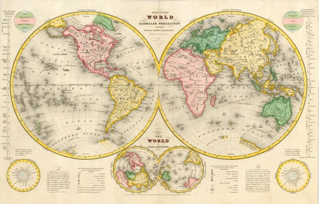 map of the world on a globular projection sherman smith