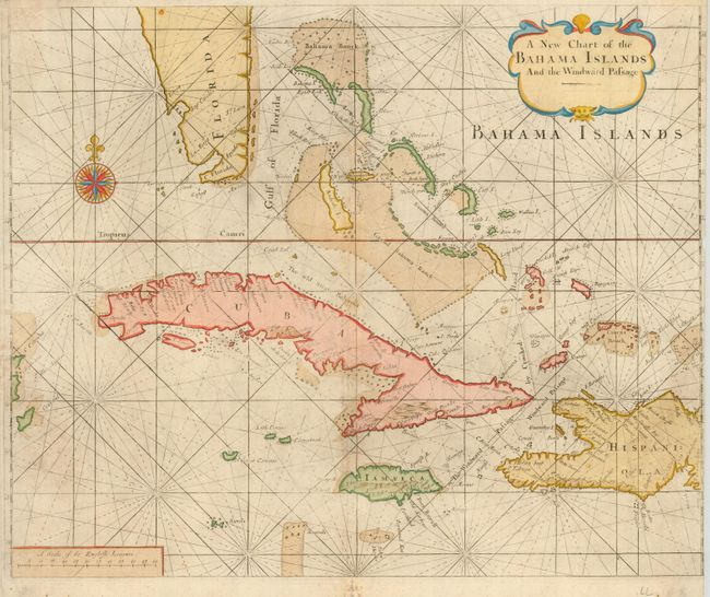 Antique map chart: - A New Chart of the Bahama Islands and ...