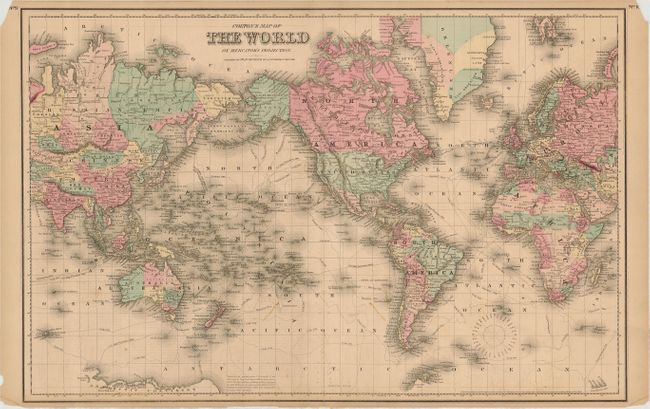Old World Auctions Auction 121 Lot 35 Lot Of 3 A New Map - Us Map Globular Projection