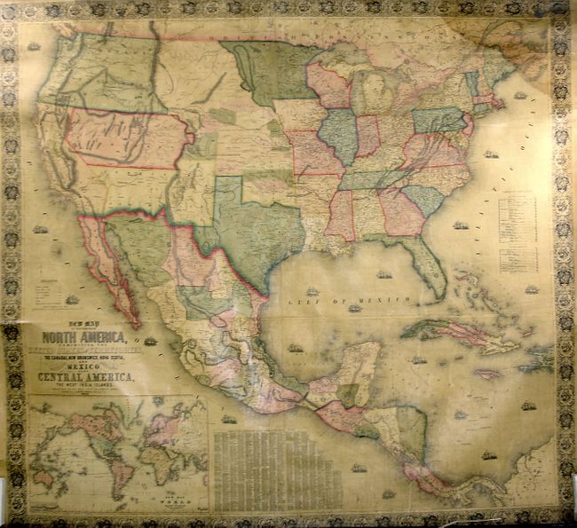 Old World Auctions - Auction 122 - Lot 160 - New Map of the ... on us map cincinnati, us map louisiana, us map treaty of paris, us map michigan, us map nevada, us map oregon, us map albuquerque, us map california, us map oklahoma, us map montana, us map wisconsin, us map transcontinental railroad, us map buffalo, us map wyoming, us map mississippi, us map mexico, us map united states, us map lewis and clark expedition, us map alabama, us map erie canal,