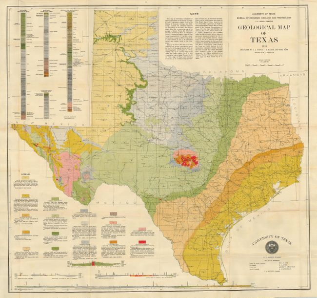 Old World Auctions Auction 122 Lot 338 Geological Map Of Texas