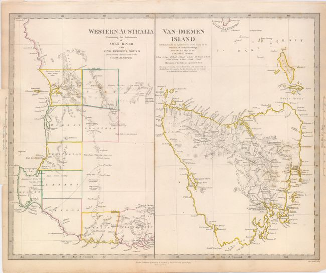 Map Of Australia King Island.Old World Auctions Auction 122 Lot 820 Lot Of 2 Western