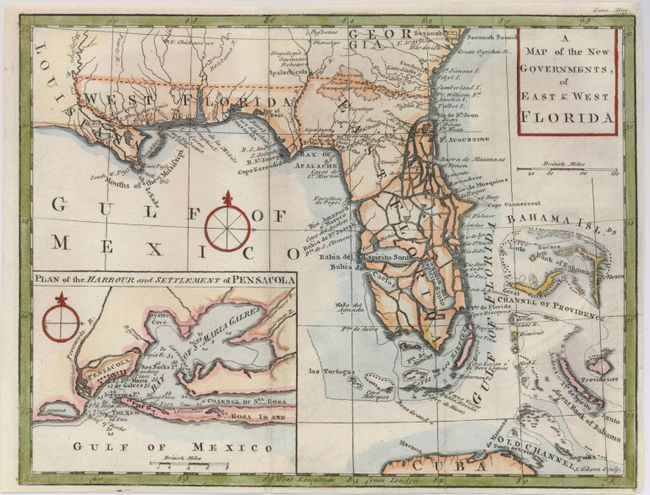 West Florida Map.Old World Auctions Auction 124 Lot 155 A Map Of The New