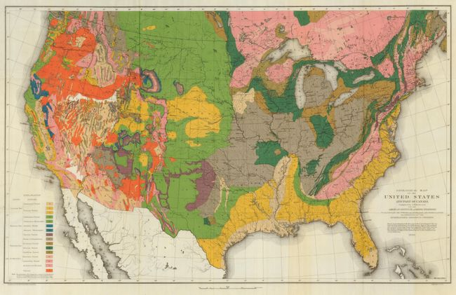 Old World Auctions - Auction 125 - Lot 150 - Geological Map of the ...