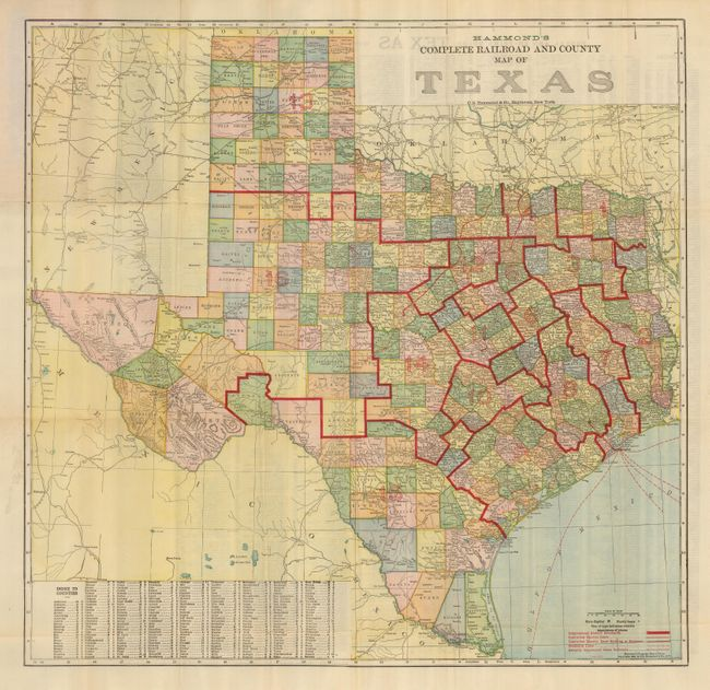 Complete Map Of Texas.Old World Auctions Auction 125 Lot 316 Hammond S Complete