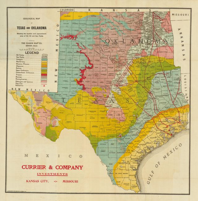 Old World Auctions Auction 129 Lot 342 Geological Map Of Texas