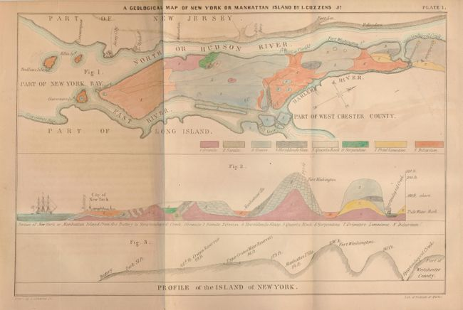 Old World Auctions Auction 131 Lot 350 A Geological Map of New