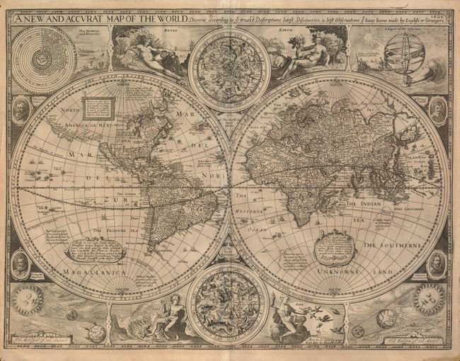 A New And Accvrat Map Of The World 1626.Old World Auctions Auction 134 Lot 17 A New And Accurat Map Of