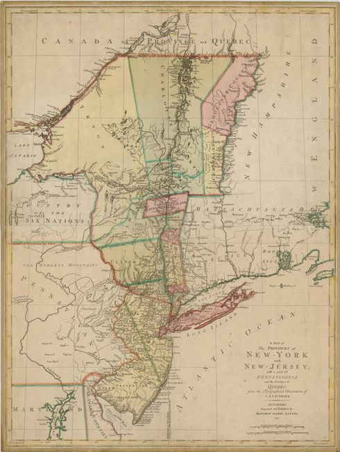 Map Of New York And Quebec.Old World Auctions Auction 136 Lot 205 A Map Of The Provinces