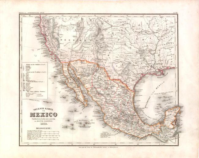 Old World Auctions Auction 137 Lot 409 Neueste Karte Von Mexico