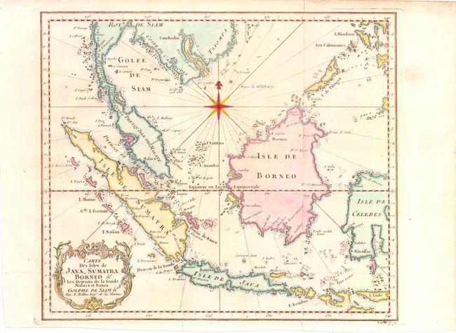 Old world auctions auction 137 lot 766 carte des isles de java carte des isles de java sumatra borneo c les detroits de la sonde malaca et banca golfe de siam c bellin jacques nicolas gumiabroncs Images