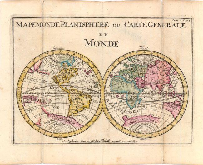 antique map chart mapemonde planisphere ou carte generale du monde. Black Bedroom Furniture Sets. Home Design Ideas