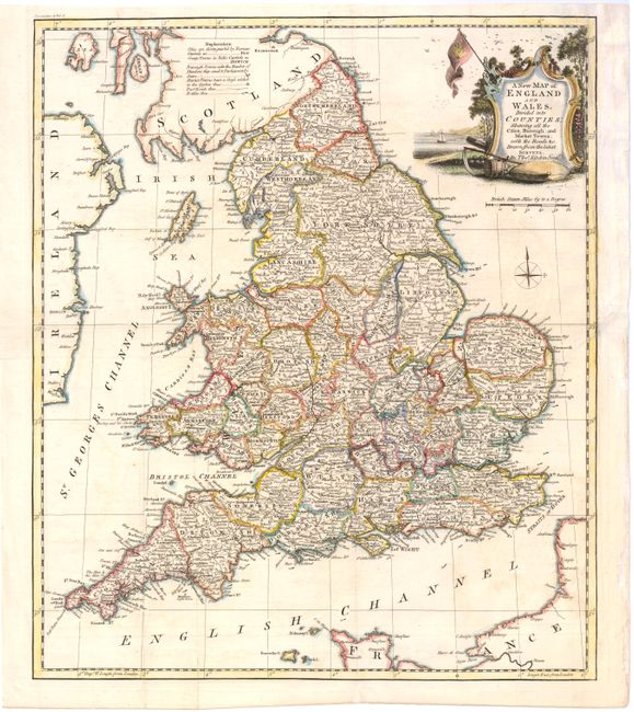 Map Of England And Wales With Cities.Old World Auctions Auction 143 Lot 450 A New Map Of England