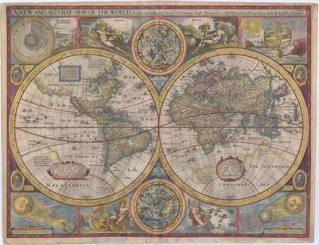 A New And Accvrat Map Of The World 1626.Old World Auctions Auction 146 Lot 21 A New And Accurat Map Of