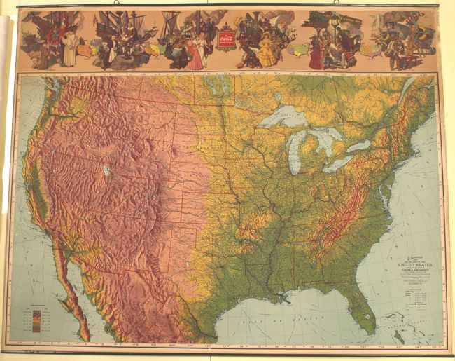"""NOS 1940 Coca-Cola US map 36/"""" x 29/"""" made by The Ohman Co NICE!"""