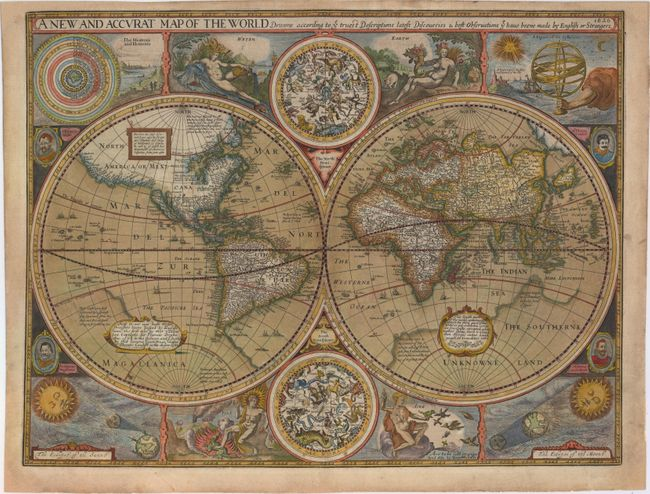 A New And Accvrat Map Of The World 1626.Old World Auctions Auction 150 Lot 16 A New And Accurat Map Of