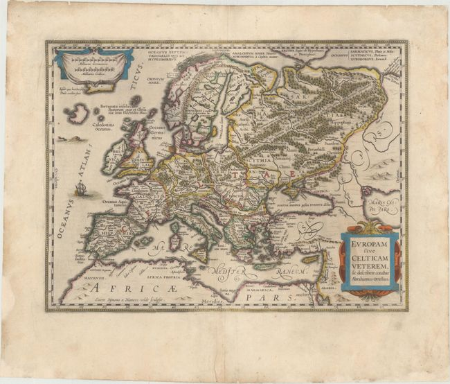 Europam sive Celticam Veterem, sic Describere Conabar Abrahamus Ortelius