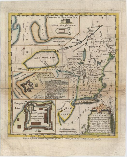 Map Of New England And Quebec.Old World Auctions Auction 152 Lot 151 A Map Of New England
