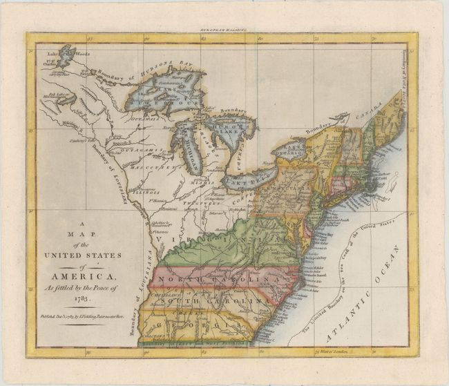 Old World Auctions - Auction 155 - Lot 148 - A Map of the ... on usa map no states, south america no states, map of america cities,