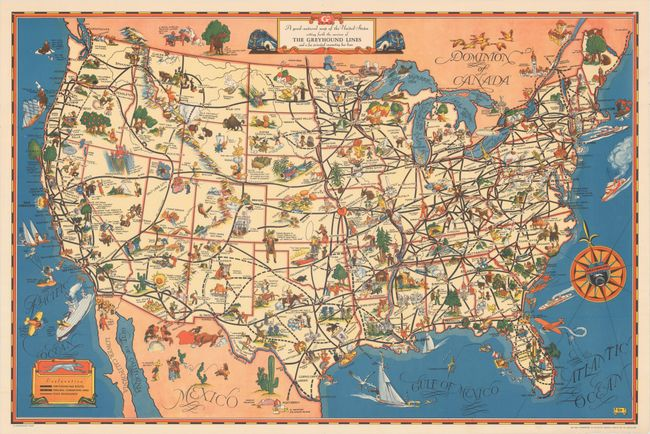 Old World Auctions - Auction 162 - Lot 143 - A Good-Natured Map of on