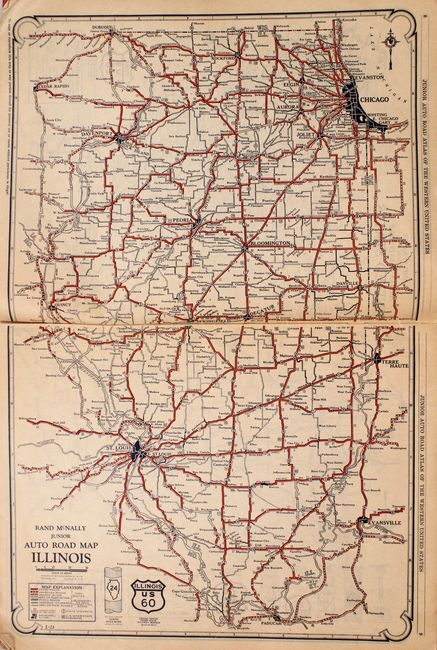 Old World Auctions - Auction 170 - Lot 209 - Rand McNally ... on illinois county map, illinois dot construction map, illinois interstate highway map, illinois airports map, illinois tollway map 294, illinois tolls rates map, illinois road atlas, illinois us 66 maps,