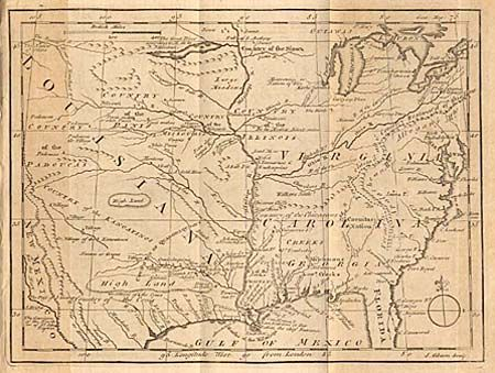 Antique Map Chart Untitled Map Of The Mississippi River Valley - Map of the mississippi