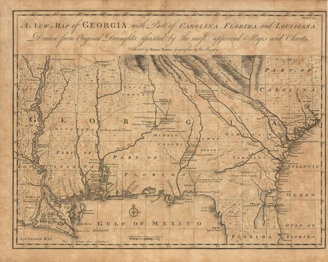 Colonial Map Of Georgia.Old World Auctions Auction 99 Lot 121 A New Map Of Georgia